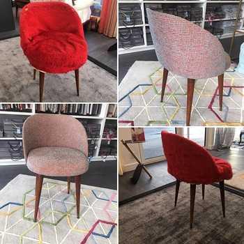 Modernisation d''un fauteuil par un changement de tissu pour l''assise : Votre artisan tapissier décorateur