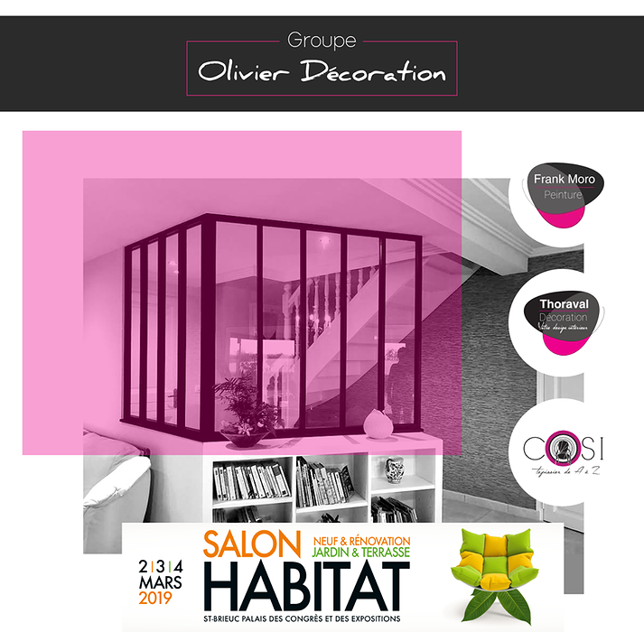 Cosi Tapissier, (Groupe Olivier Décoration) au salon de l''habitat 2019 de Saint Brieuc (22) 0